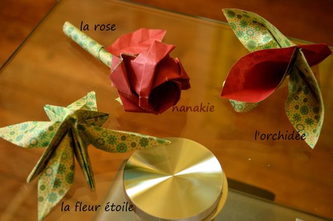 Nanakie origami fleurs bouquet mariage 2