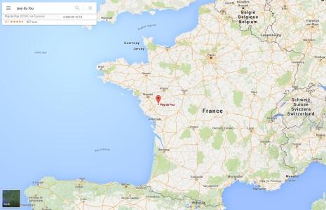 Puy du Fou carte de France