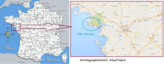 Carte France Côte d'amour