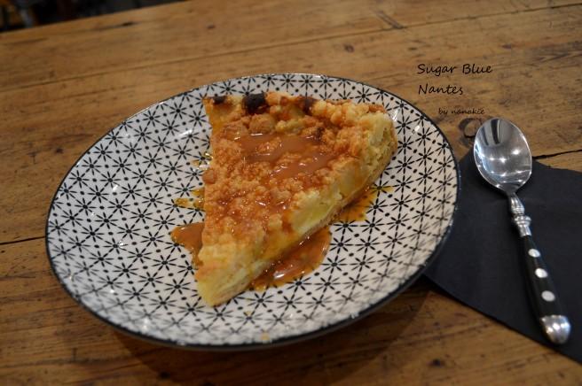 Sugar Blue Café Nantes tarte pomme caramel