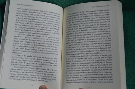 """extrait de """"Le concept de Continuum"""" Jean Liedloff - Ambre editions"""